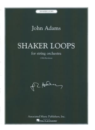Shaker Loops John Adams Partition Grand format - laflutedepan