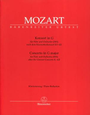 Konzert In G-Dur für Flöte 1801 Nach Kv 622 - Flöte Klavier laflutedepan