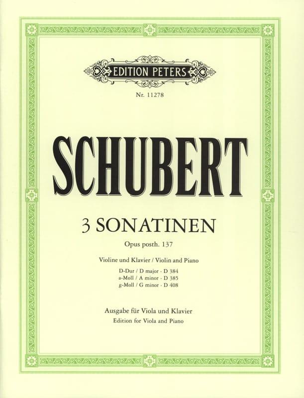 3 Sonatines Opus Posth.137 - SCHUBERT - Partition - laflutedepan.com