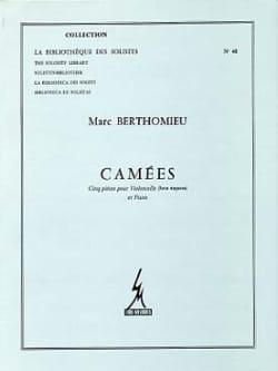Camées Marc Berthomieu Partition Violoncelle - laflutedepan