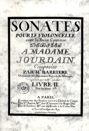 Sonates Livre 2 Jean Barrière Partition Violoncelle - laflutedepan