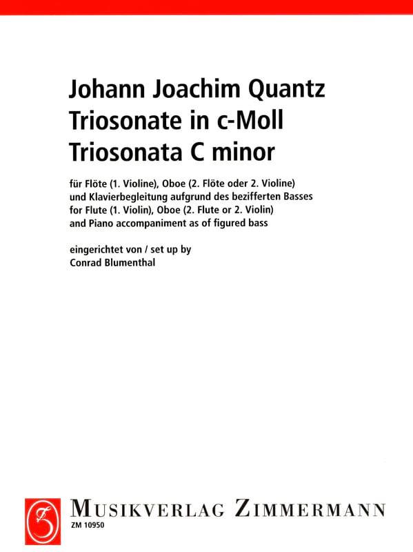 Triosonate c-moll - Flöte Violine, Oboe 2. Flöte 2. Violine u. Klavier - laflutedepan.com