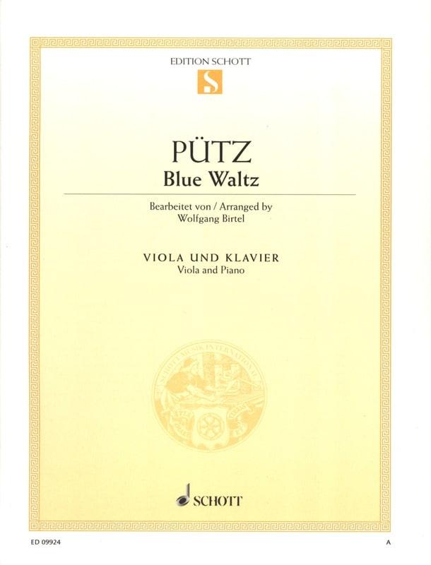 Blue Waltz - Eduard Pütz - Partition - Alto - laflutedepan.com