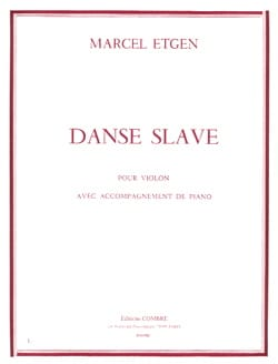 Danse slave Marcel Etgen Partition Violon - laflutedepan