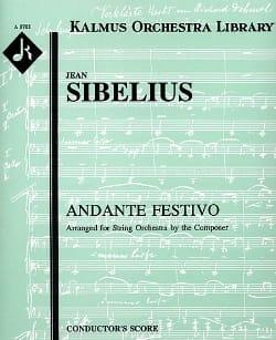 Andante Festivo - Set C - SIBELIUS - Partition - laflutedepan.com
