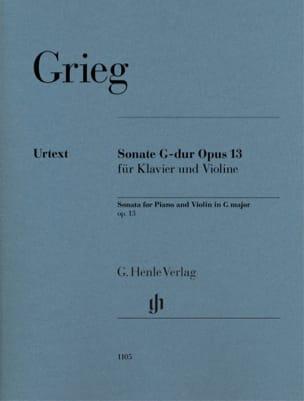 Sonate opus 13 GRIEG Partition Violon - laflutedepan