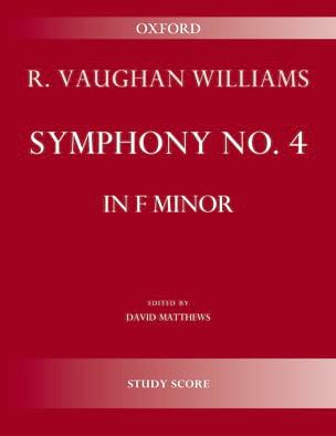 Symphony No. 4 WILLIAMS VAUGHAN Partition Grand format - laflutedepan