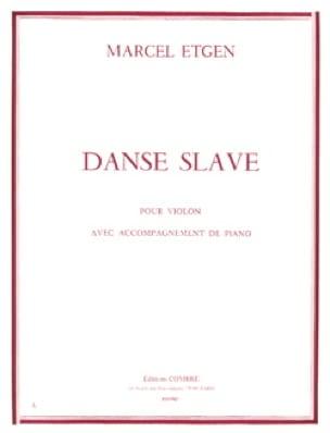 Danse slave - Marcel Etgen - Partition - Violon - laflutedepan.com