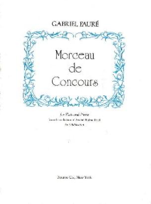 Morceau de concours - Flûte piano - FAURÉ - laflutedepan.com