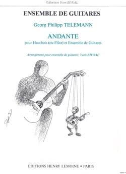 Andante - Hautbois ou flûte et ensemble guitares - laflutedepan.com