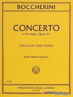 Concerto in D major op. 27 - Flute piano BOCCHERINI laflutedepan