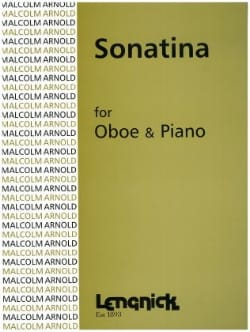 Sonatina - Oboe pianoforte Malcolm Arnold Partition laflutedepan