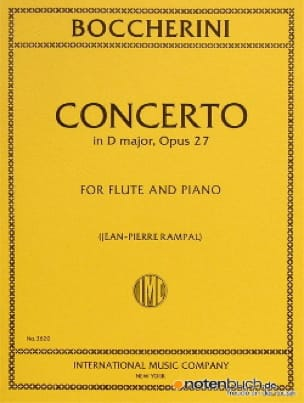 Concerto in D major op. 27 - Flute piano - laflutedepan.com