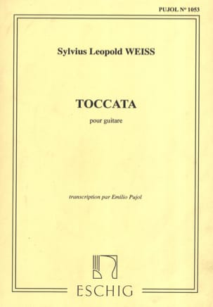 Toccata Silvius Leopold Weiss Partition Guitare - laflutedepan
