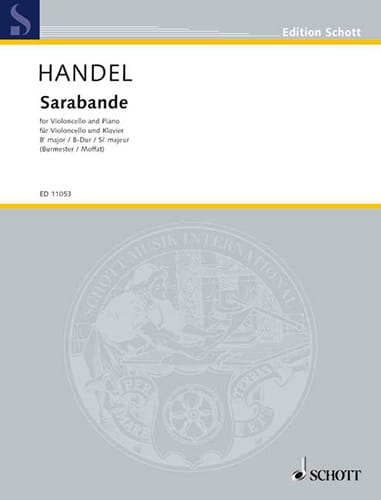 Sarabande - HAENDEL - Partition - Violoncelle - laflutedepan.com