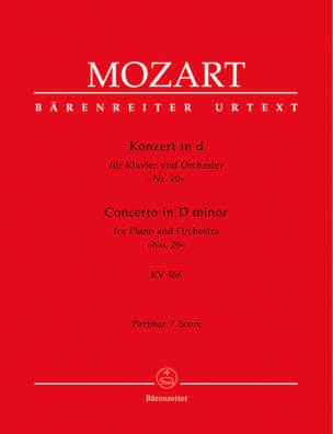 Klavierkonzert Nr. 20 d-moll KV 466 - Partitur - laflutedepan.com