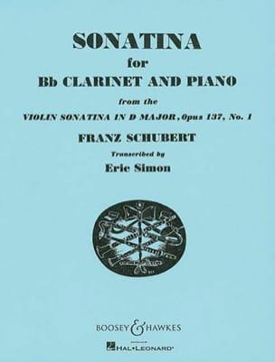 Sonatina in D major op. 137 n° 1 - Clarinet SCHUBERT laflutedepan
