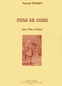 Airs de cour Pascal Proust Partition Alto - laflutedepan