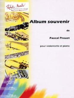 Album Souvenir Pascal Proust Partition Violoncelle - laflutedepan