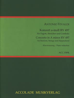Konzert a-moll RV 497 - Basson et piano VIVALDI Partition laflutedepan