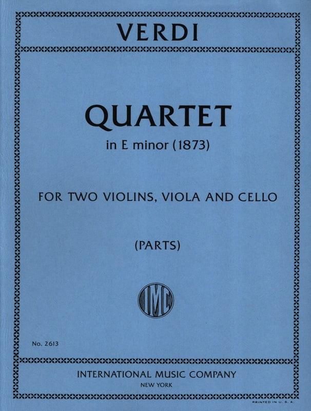 Quartet in E minor -Parts - VERDI - Partition - laflutedepan.com