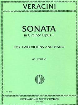 Sonate C minor op. 1 -2 Violins piano Antonio Veracini laflutedepan