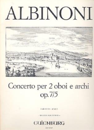 Concerto per 2 oboi e archi op. 7/5 - Conducteur - laflutedepan.com