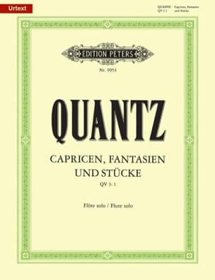 Capricen, Fantasien und Stücke - Flöte solo QUANTZ laflutedepan