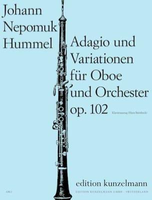 Adagio und Variationen op. 102 HUMMEL Partition laflutedepan