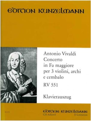 Concerto fa maggiore RV 551 -3 Violinen Klavier VIVALDI laflutedepan