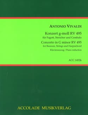 Konzert g-moll RV 495 - Basson et piano VIVALDI Partition laflutedepan