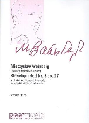 Quatuor à cordes n°5 op. 27 Mieczyslaw Weinberg Partition laflutedepan