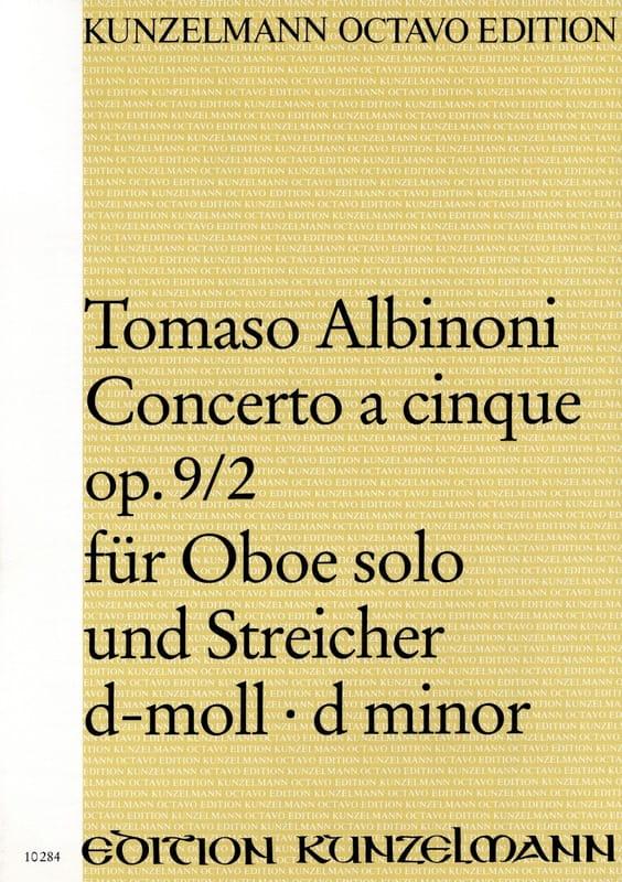 Concerto a cinque op. 9/2 für Oboe solo und Streicher d-moll - Conducteur - laflutedepan.com
