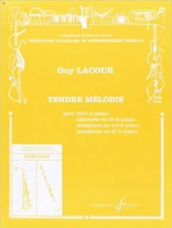 Tendre mélodie Guy Lacour Partition Flûte traversière - laflutedepan