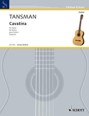 Cavatina Alexandre Tansman Partition Guitare - laflutedepan