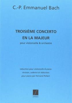 Concerto n° 3 en la Majeur Carl Philipp Emanuel Bach laflutedepan