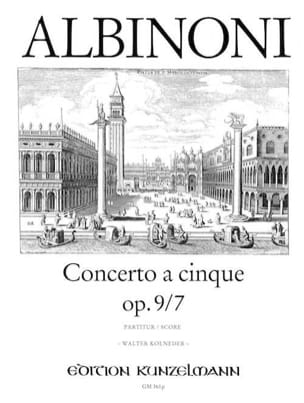Concerto a cinque op. 9/7 - Conducteur ALBINONI Partition laflutedepan