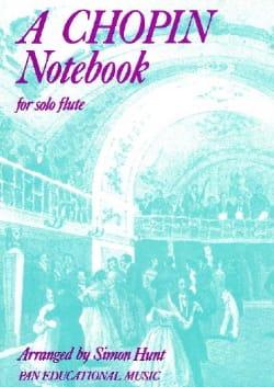 A Chopin Notebook - flute solo CHOPIN Partition laflutedepan