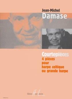 Courtepièces Jean-Michel Damase Partition Harpe - laflutedepan