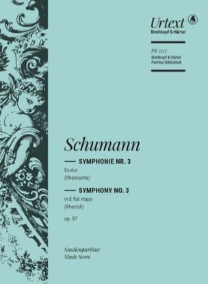 Symphonie N°3 en Mib Maj. Op.97 SCHUMANN Partition laflutedepan