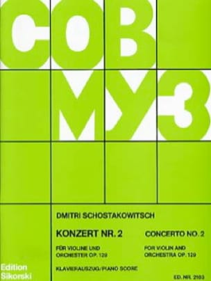 Concerto pour Violon N° 2 Op. 129 - CHOSTAKOVITCH - laflutedepan.com