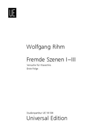 Fremde Szenen I-III - Wolfgang Rihm - Partition - laflutedepan.com