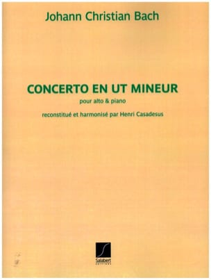 Concerto en ut mineur Johann Christian Bach Partition laflutedepan