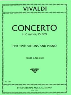 Concerto C minor RV 509 -2 Violins piano VIVALDI laflutedepan