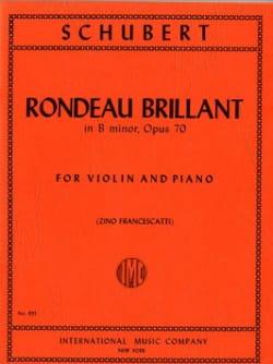 Rondeau brillant in B minor op. 70 SCHUBERT Partition laflutedepan