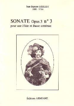 Sonate Opus 3 N° 3 LOEILLET Partition Flûte traversière - laflutedepan