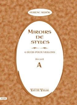 Miroirs De Style - Recueil A Ferenc Sebok Partition laflutedepan