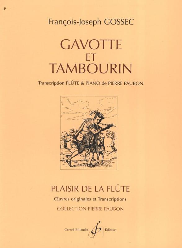 Gavotte et Tambourin - François-Joseph Gossec - laflutedepan.com