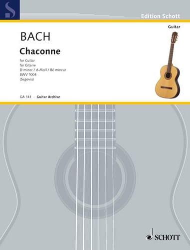 Chaconne D-moll BWV 1004 -Gitarre - BACH - laflutedepan.com