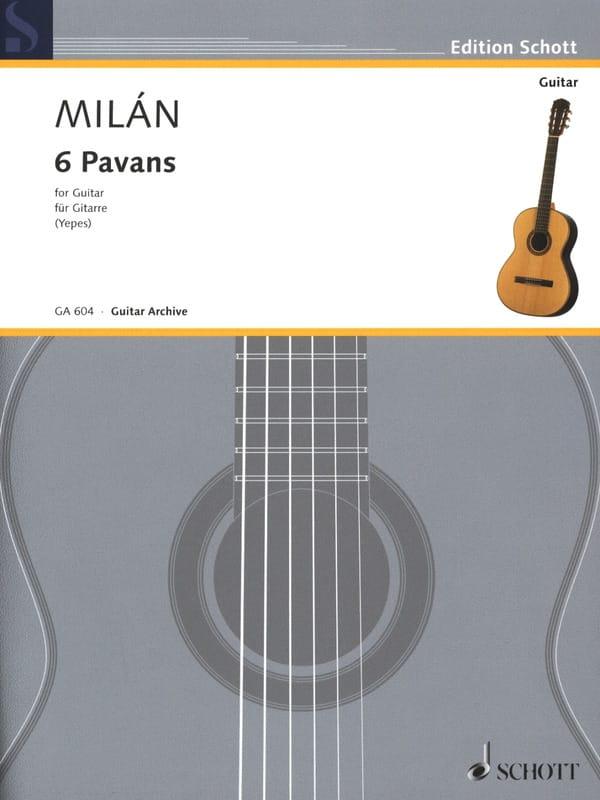 6 Pavans - Luis Milan - Partition - Guitare - laflutedepan.com